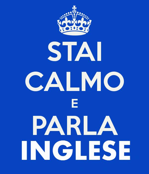 stai calmo e parla inglese con english institution tower
